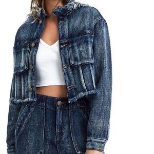 True Religion Women's Cropped Denim Jacket